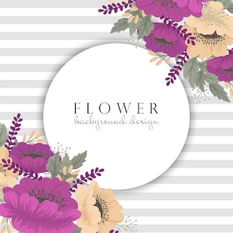 Cornice floreale fiore vintage