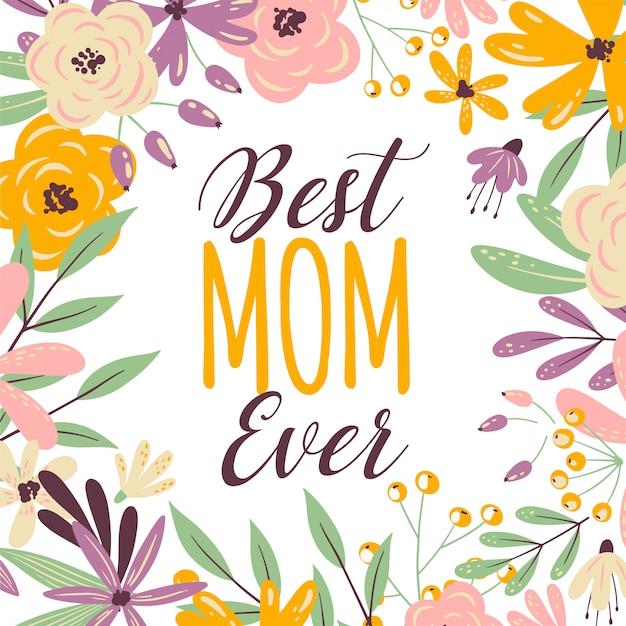 Cornice floreale giorno felice madri