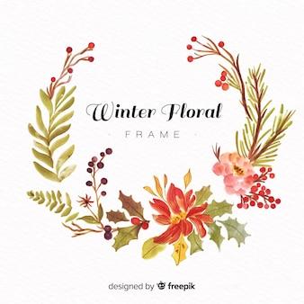 Cornice floreale invernale