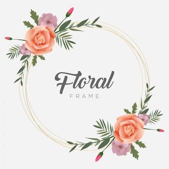 Cornice floreale modello di fiore