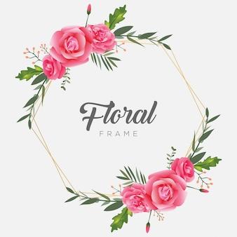Cornice floreale modello vintage fiore