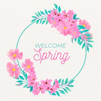 Cornice floreale primavera dell'acquerello