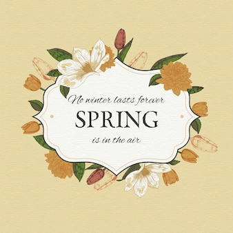 Cornice floreale primavera retrò
