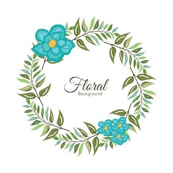 Cornice floreale vettoriale