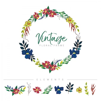 Cornice floreale vintage