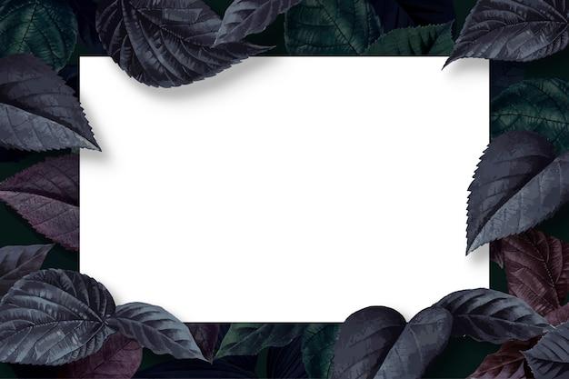Cornice foglia foresta