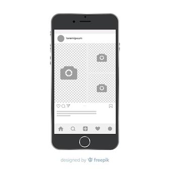 Cornice fotografica instagram piatta