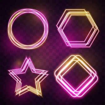 Cornice geometrica al neon