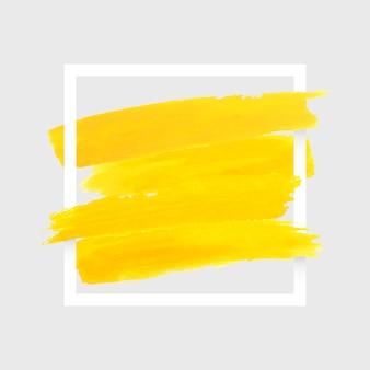 Cornice geometrica bianca macchia dell'acquerello