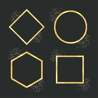 Cornice geometrica dorata glitterata