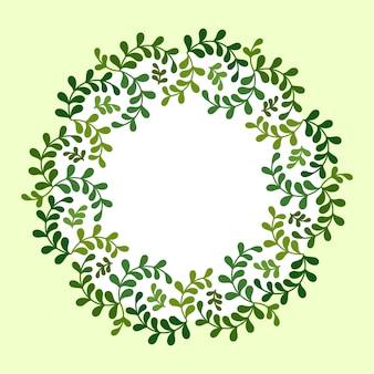 Cornice ghirlanda floreale
