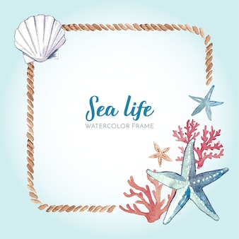 Cornice marina dell'acquerello