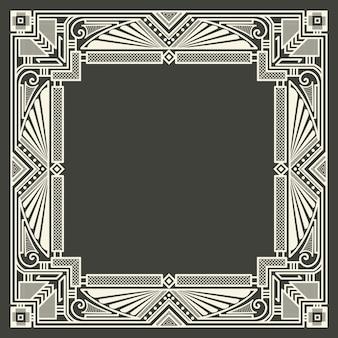 Cornice monogramma floreale e geometrico su sfondo grigio scuro. elemento di design monogramma.