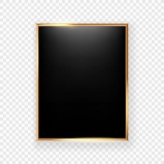 Cornice nera su una parete