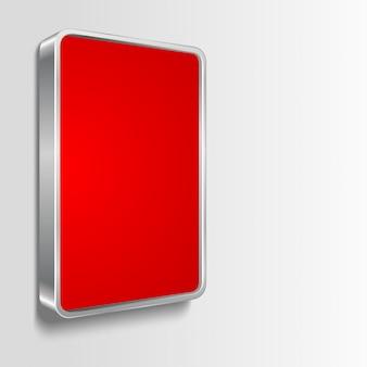 Cornice per affissioni con spazio vuoto rosso