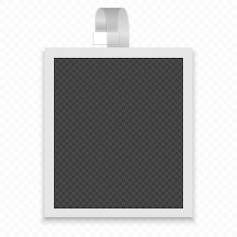 Cornice per foto su una striscia trasparente.