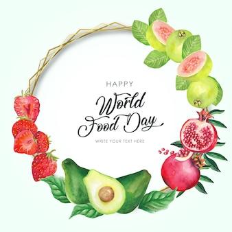 Cornice per la giornata mondiale dell'alimentazione
