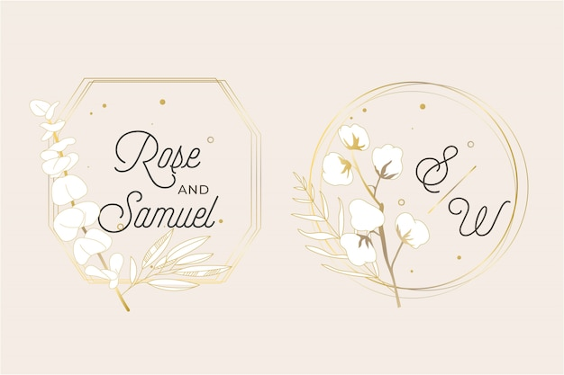 Cornice per matrimonio floreale