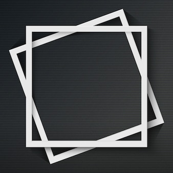 Cornice quadrata con ombra su sfondo scuro