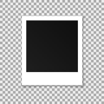 Cornice quadrata di carta vettoriale isolato su sfondo trasparente