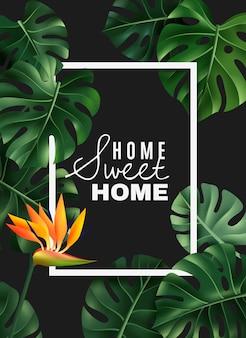 Cornice realistica della pianta della casa