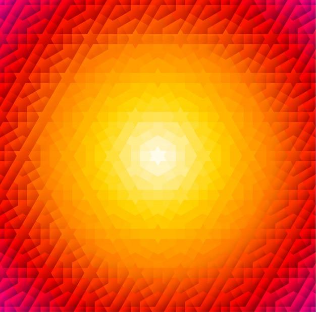 Cornice rotonda arancione con motivo arabo