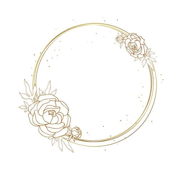 Cornice rotonda decorativa con fiori