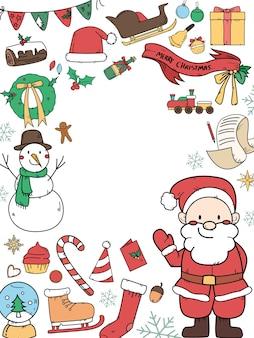 Cornice rotonda di decorazioni natalizie