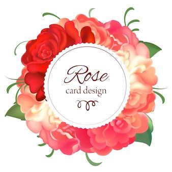 Cornice rotonda di rose.