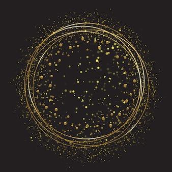 Cornice rotonda dorata con scintillii