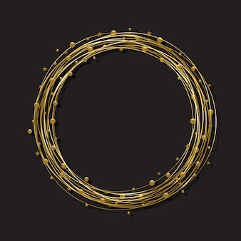 Cornice rotonda dorata