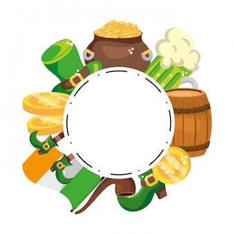 Cornice rotonda per articoli da leprechaun
