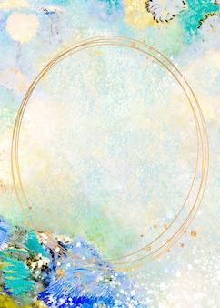 Cornice su una cornice artistica pastello