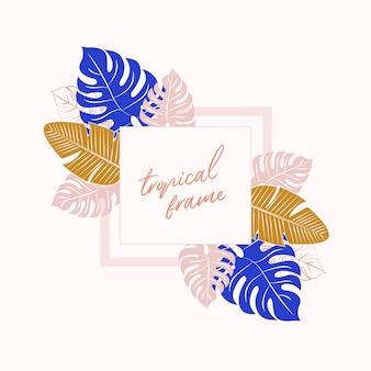 Cornice tropicale. sfondo tropicale