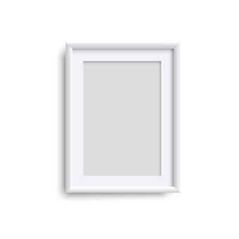 Cornice verticale vuota, cornice verticale bianca realistica, a4