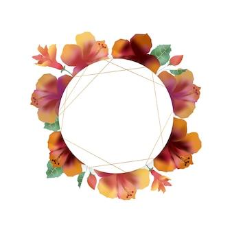 Cornice vuota con peonia, campanule e fiore archiviato. copyspace