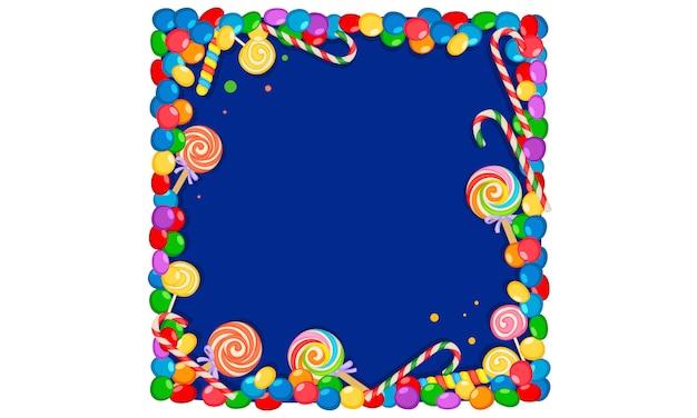 Cornice vuota di caramelle colorate