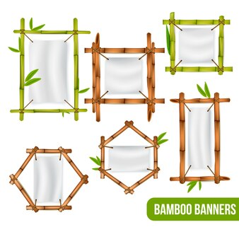 Cornici decorative in bambù verde e secco