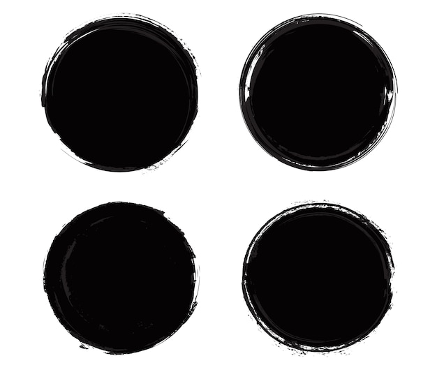 Cornici di cerchio grunge