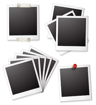 Cornici di foto in bianco