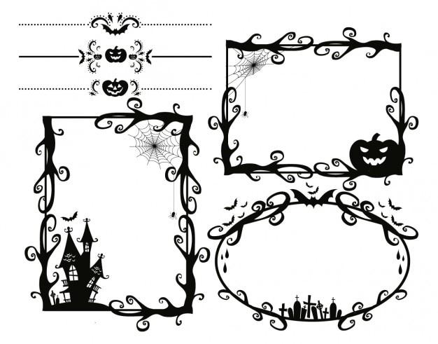 Cornici scary halloween