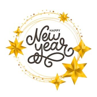 Corona d'oro felice nuovo anno 2020