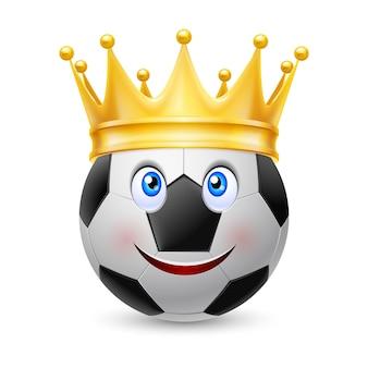 Corona d'oro sul pallone da calcio