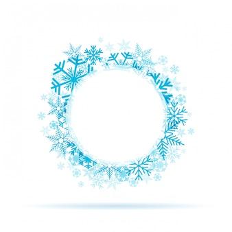 Corona di fiocchi di neve d'inverno