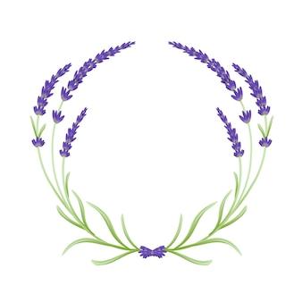 Corona di fiori di lavanda floreale
