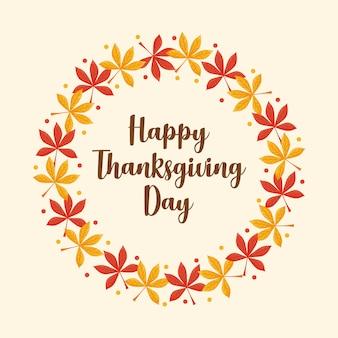 Corona di foglie del giorno del ringraziamento