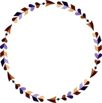 Corona di frecce ad acquerello