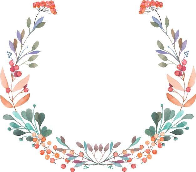 Corona di rami e bacche rosse e verdi