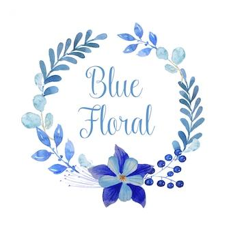 Corona floreale blu