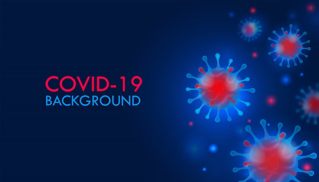Coronavirus 2019-ncov e background dei virus.